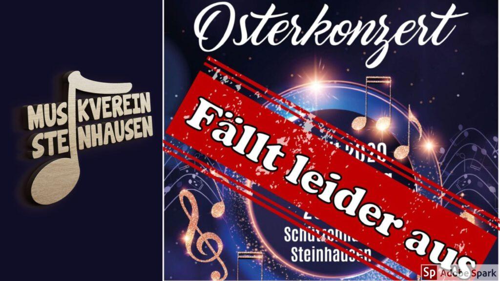 Konzert am Ostersonntag aufgrund Corona-Pandemie abgesagt